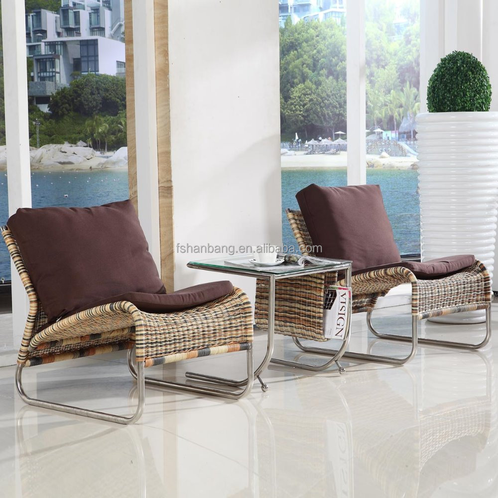 New Design Comfortable Indoor Hotel Living Room Sunroom Poolside Furniture Unique Wicker Leisure Commode Chaise Lounge Chair