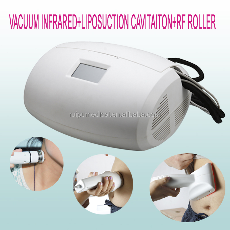 Portable vacuum RF roller infrared cavitation massage slimming machine