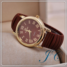 Ladies Quartz Select Fashion Custom Made Cheap Colorful Geneva Silicon Rubber Colorful Watch