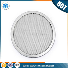 New Aluminum Flat Mesh Pizza Screen Round Baking Tray Net Aluminum fine mesh pizza screen