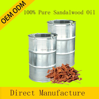 OEM/ODM Pure private label Sandalwood Essential Oil therapeutic grade for aroma massage oil whole sale price 180KG CAS 8002-09-3