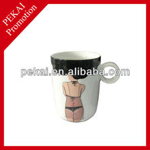 Sexy girl color changing ceramic mug for promotional gift
