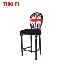 New Design Popular English Flag High Chair Louis Bar Chair