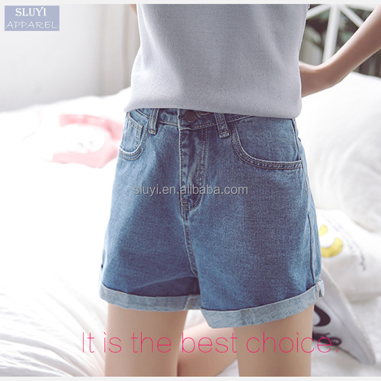 2016 women new summer designs fashion preppy style pretty sweet high waist jeans shorts