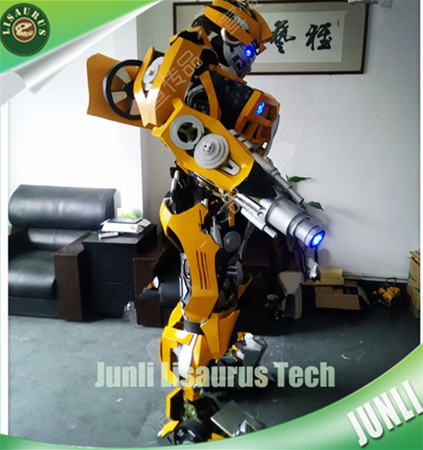 Lisaurus-CH1148 The Incredibles Mascot Costume Transformers Bumblebee and Optimus for kids party