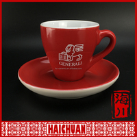 Chaozhou porcelain ceramic coffee cup and saucer set manufacturer