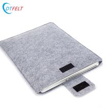 Wholesale 13 15.6 19 inch felt and leather laptop sleeve in china