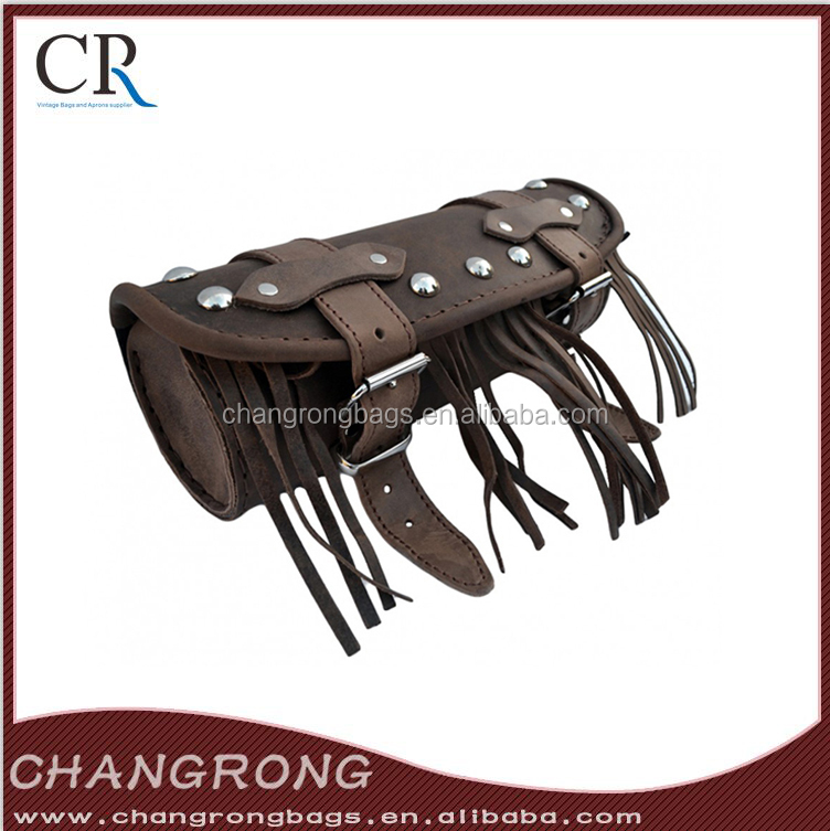 fashionable crazy horse leather rolling tool bag