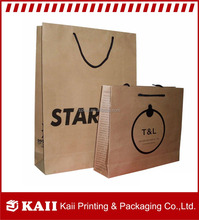 Custom printed food grocery shopping brown kraft paper bag supplier in China