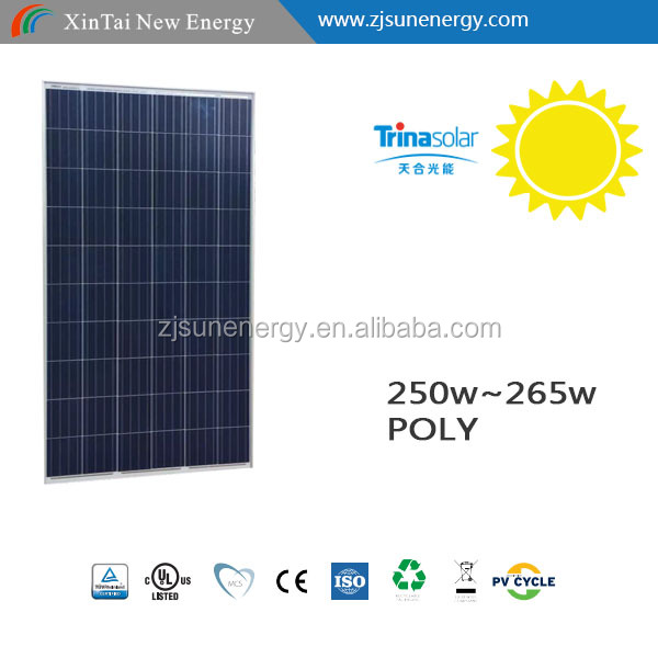 Trinasolar SOLAR PANEL 250W 60 Cell Poly pv module with full certificates