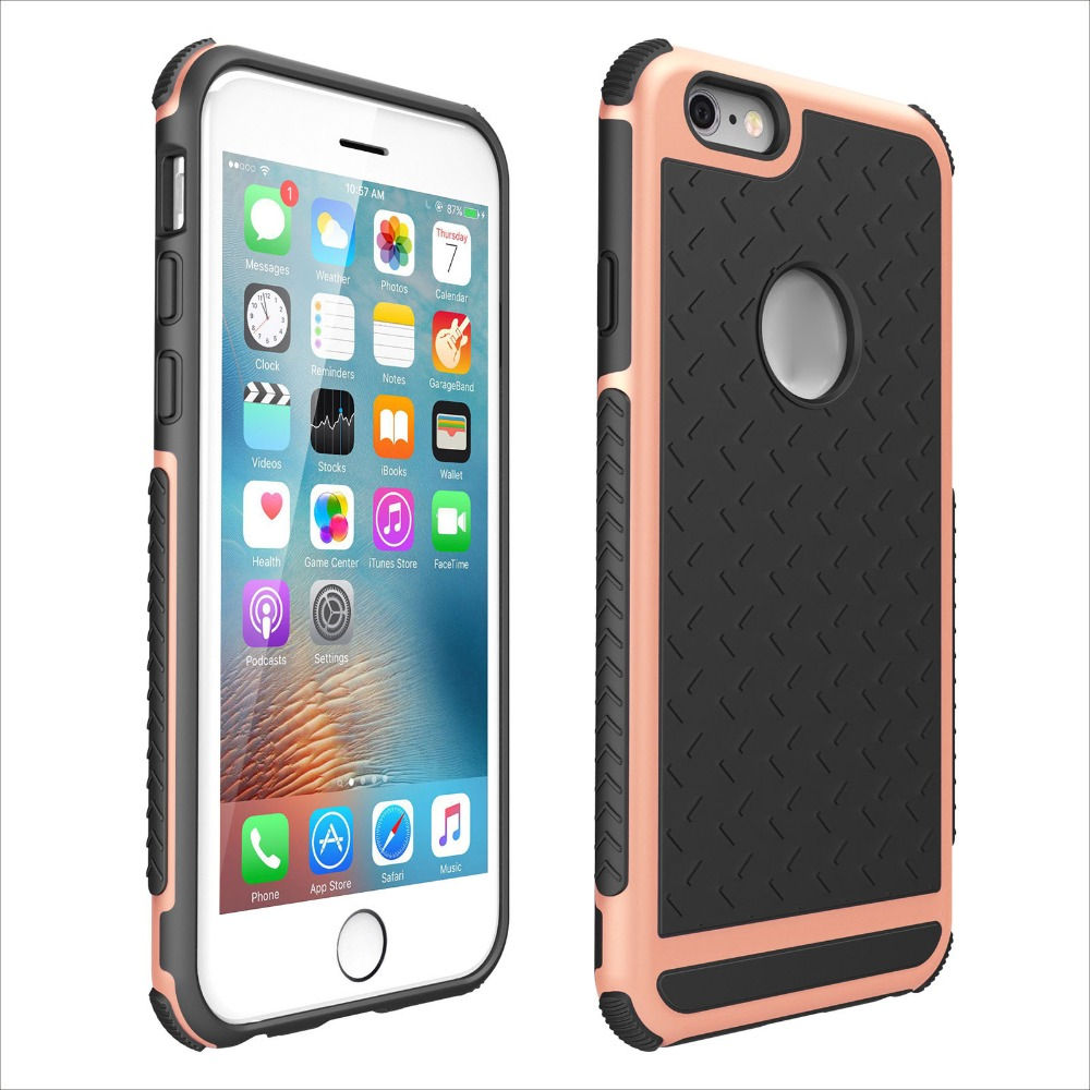 Layer Heavy Duty Protecting Scratch Proof Armor Case for <strong>Apple</strong> for <strong>Apple</strong> iPhone 6 6s
