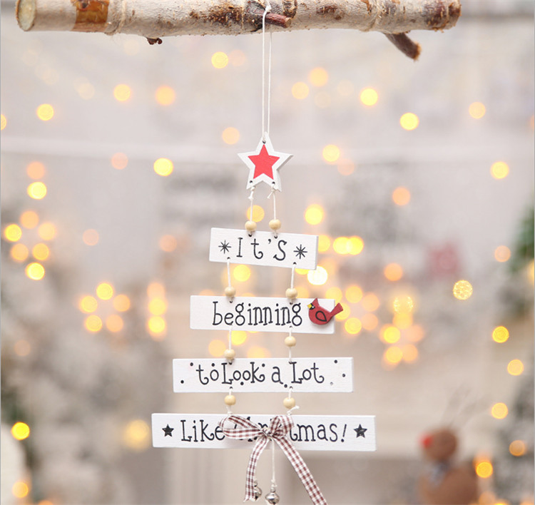 Alphabet christmas tree decoration ornament