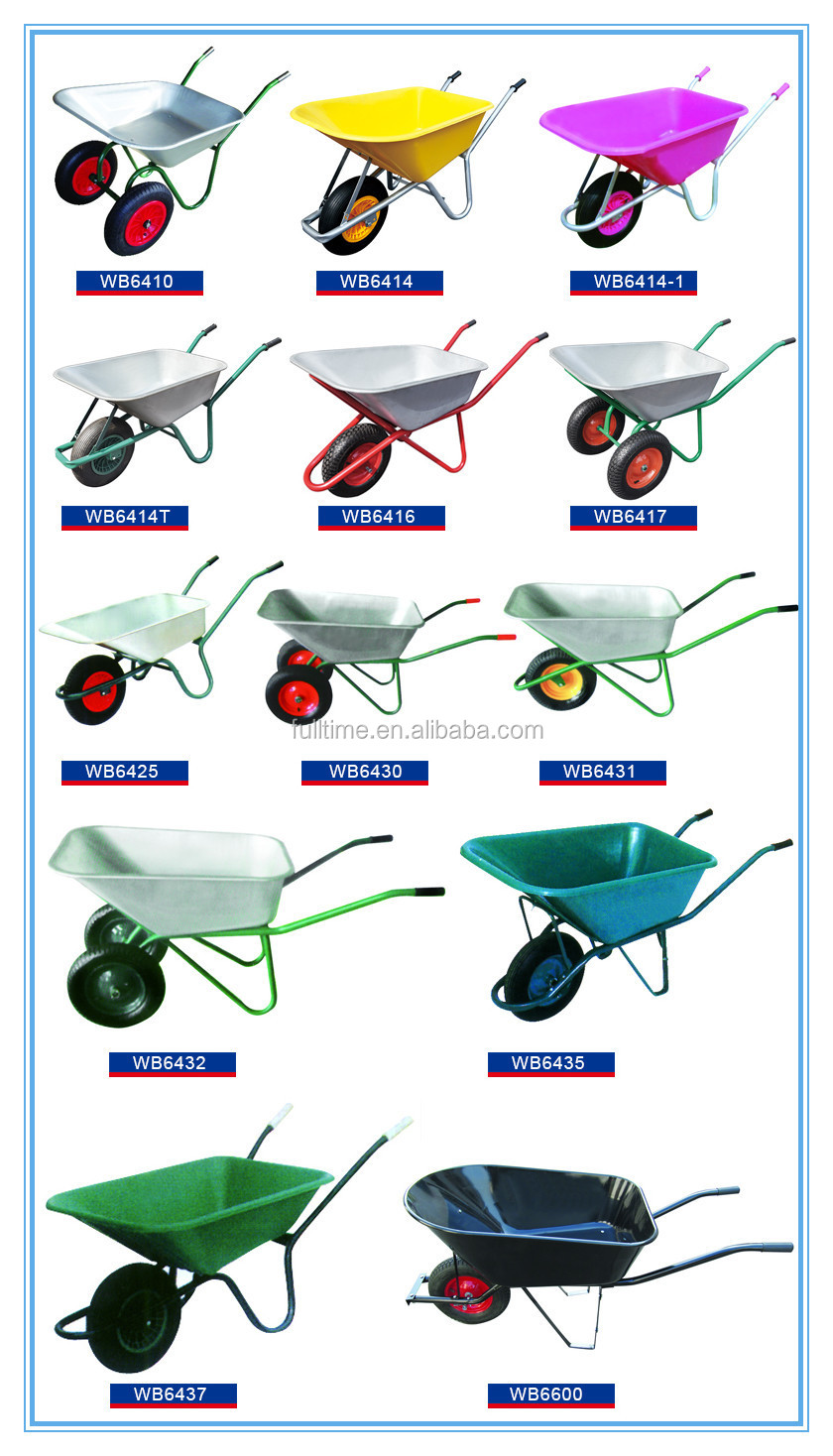 Durable Farm Equipment Wheelbarrow For Construction,Farm Tool Wheelbarrow Supplier,New Style Construction Wheelbarrow Hand Tool
