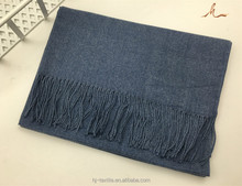 wholesale blue warm thick long cashmere men big wool scarf
