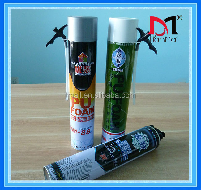 High quality polyurethane spray foam sealant , expanding polyurethane PU foam