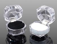 plastic jewelry box acrylic transparent imitated crystal ring storage box small display boxes
