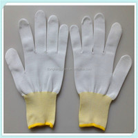Quality Inspection 13 gauge Nylon gloves used in cleanroom