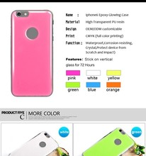 Sublimation glowing epoxy gel Case for iPhone 5 | 5s 6 plus