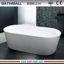 Low price plastic bath tub in free standing type for customize