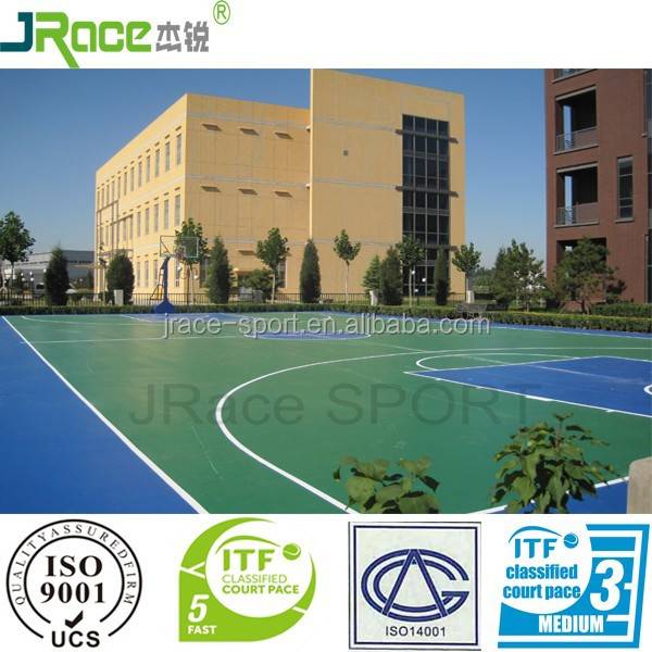 single-component PU basketball court flooring material plastic sport flooring sport surface
