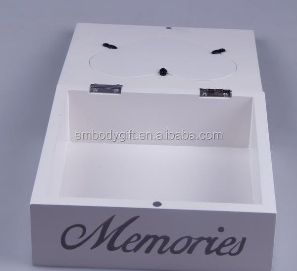 white and practical special design wooden MDF jewelry box