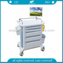 AG-WNT001A Medical trolley ABS Wireless Anaesthesia Cart