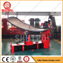 No template irregular oil tank dished head folding machine