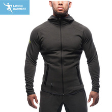 men fitness wear zipper hoodies fitness jacket