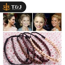 Customize color New Fashion Popular Braid Wig Hairbands Headbands Women hair bands classic hair bands fashion hair accessory