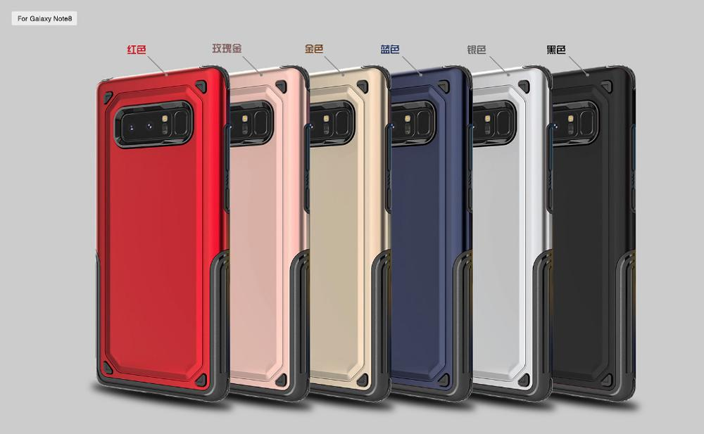 Shockproof Durable Armor Defender Case For Samsung Note 8 Hybrid Case Dual Layer