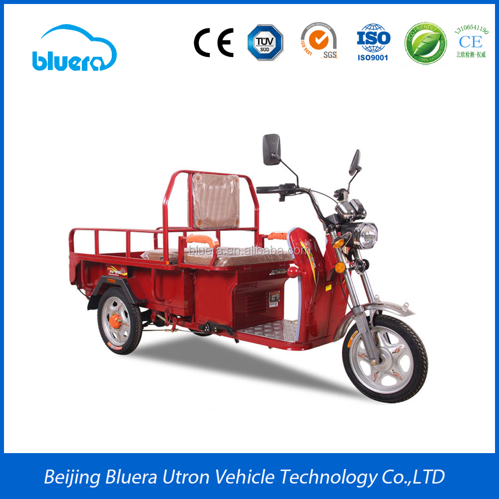 Bluerebike Camel T2 500~2000W Motor 48V-60V 20AH-100AH lead-acid battery electric cargo tricycle manufacturer in china
