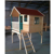 prefabricated wooden playhouse for kids with stair