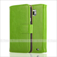 Premium Leather Wallet Folio Cover Case For Samsung Galaxy S2 i9100