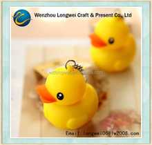 cute rubber duck keychain/led key chain/reflective keychain