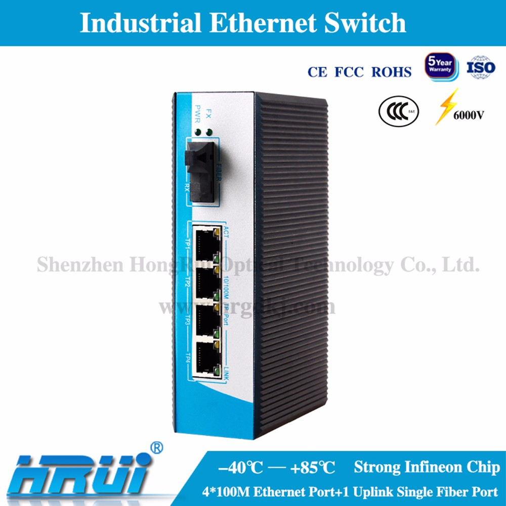 Industrial grade ethernet Switch wdm fiber media converter for special project