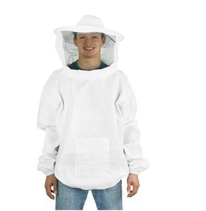 Professional Beekeeping equipment White Medium/Large Beekeeping/Bee Keeping Suit, Jacket, Pull Over, Smock with a Veil