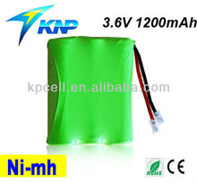 3.6V 1500mAh 3 cell Nimh AA Battery Pack