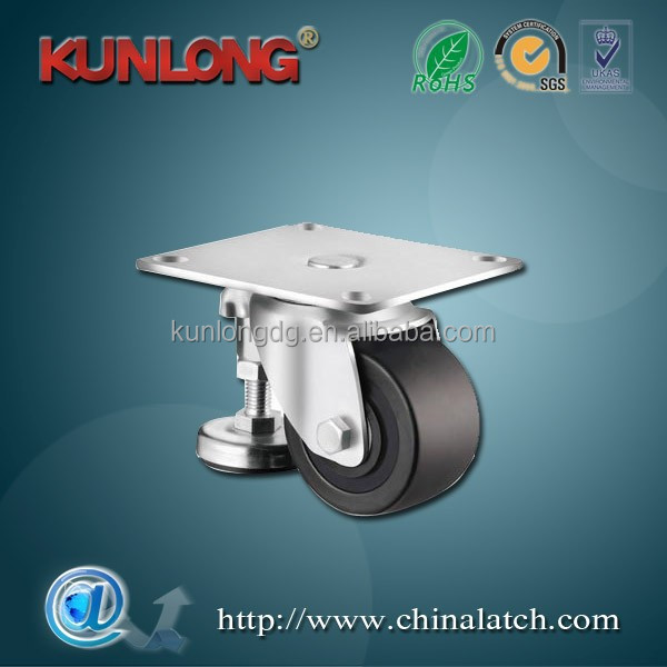Industrial Plate Adjustable Removable Leveling Caster Wheels