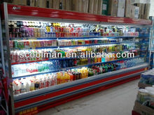 CE approved Large Capacity Supermarket Soft Drink Display Refrigerator with Remote Compressor