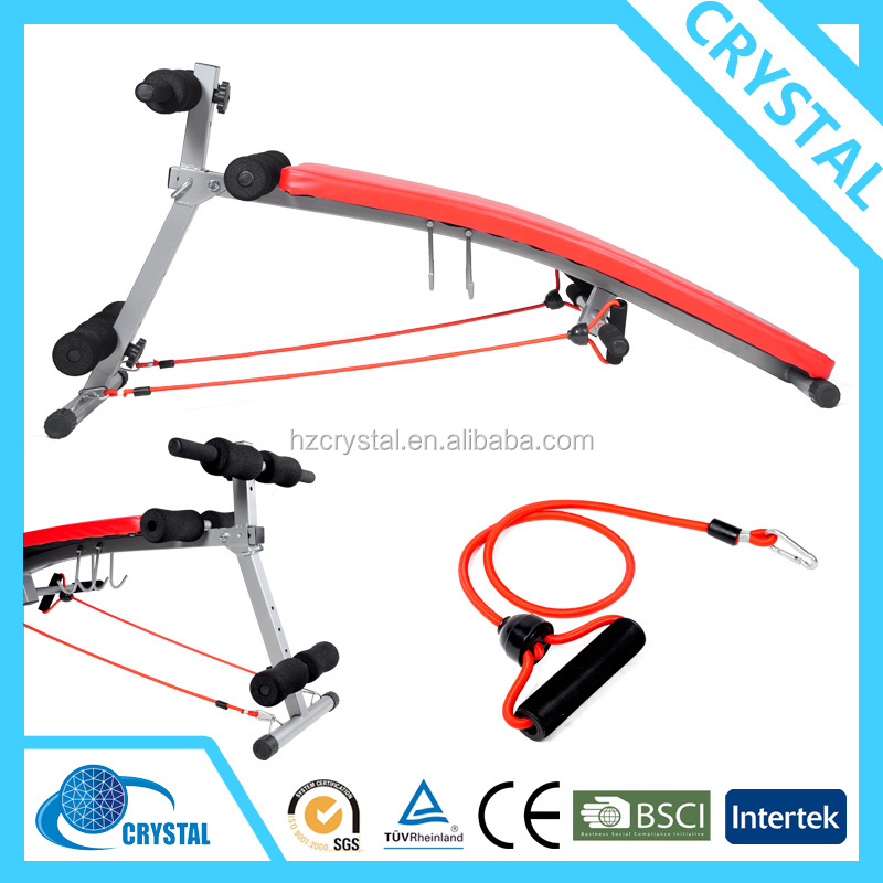 SJ-006 Hot sale Home gym body building equipment adjustable curved ab bench/ sit up Bench/incline decline bench