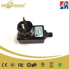 High Quality 24w 12v Waterproof Wall Mounted Power Adapter