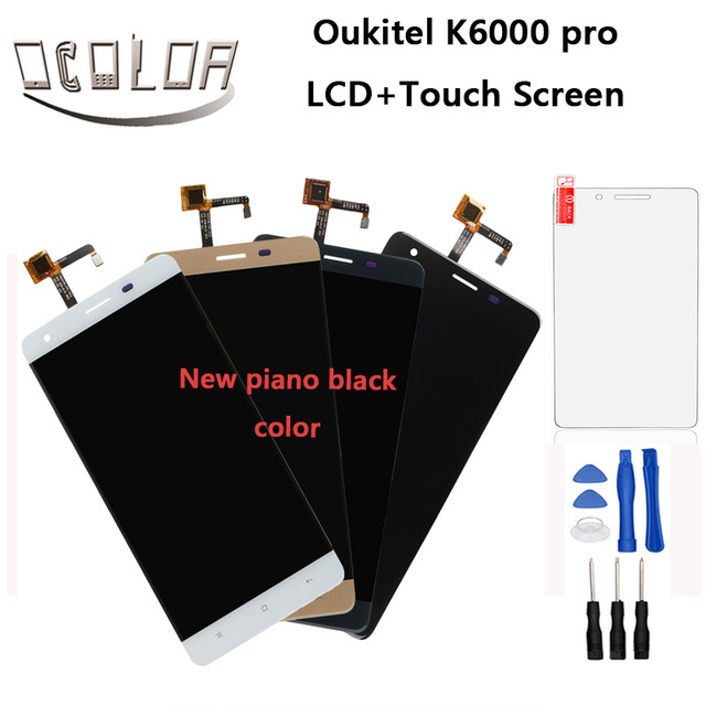 Oukitel K6000 Pro LCD Display and Touch Screen Original Assembly+Tools For Oukitel K6000 Pro Mobile Accessory+Tempered Glass