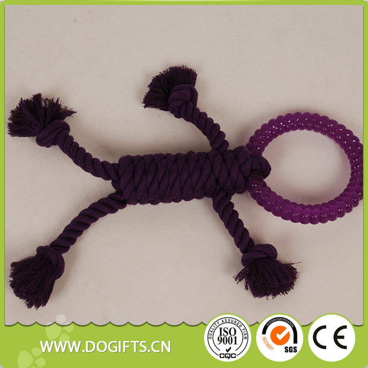 Wholesale Hand Weaving Villain Style Cotton Rope Pet Toys Dog Toys Dogift00352
