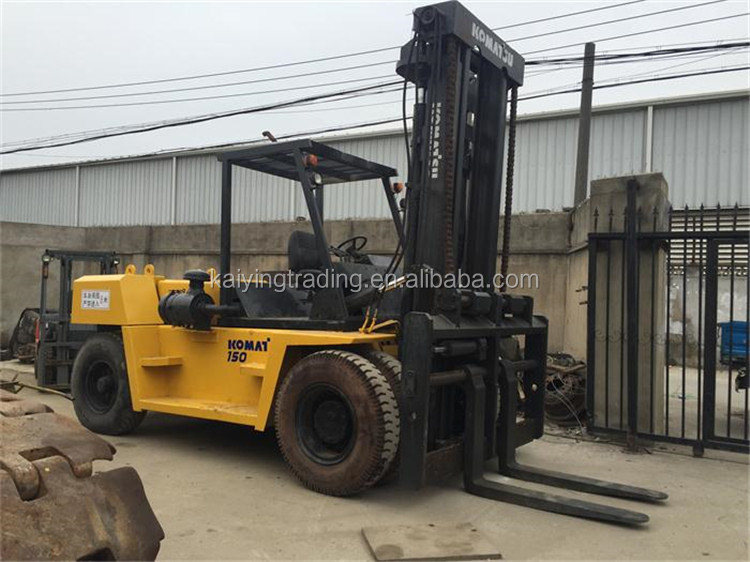 Low Price FD150 Forklift From Japan Made K0masu 15 Ton Used Forklift