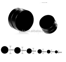 Simple Design Earrings Steel Round Magnetic Black men's Earrings for Boys