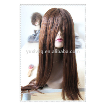 2016 Mono+PU Silky Straight 100% Virgin human hair full lace Wig