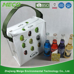 China wholesale custom cooler shoulder bag with long strap , non woven cooler bag , bag cooler