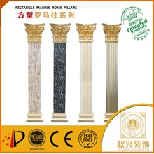 Wedding fiber glass roman square pillar design