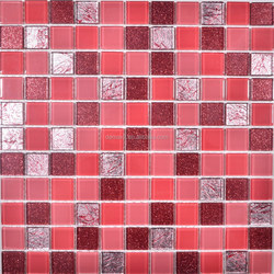 decorative outdoor crystal glass floor tiles ,glass mosaic for swimming pool,wallpaper mosaic kitchen tile