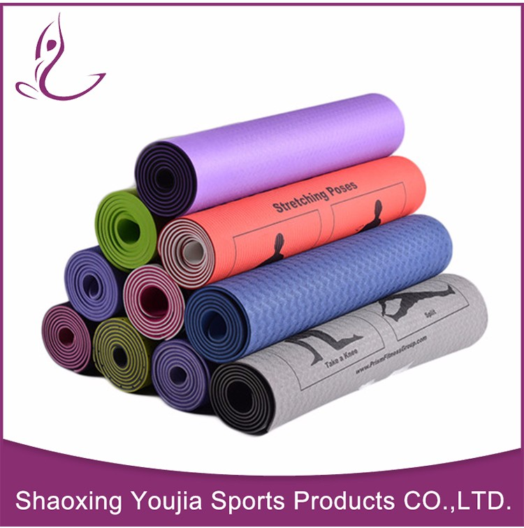 Fancy high resilient OEM eco-friendly light blue wholesale exercise mats